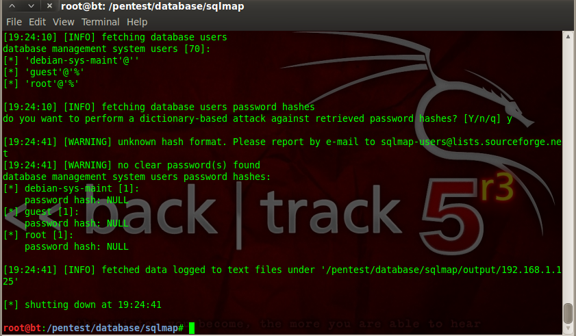 Sec24 hur hackar man DVWA penetrationstest SQL Injection Sqlmap 9